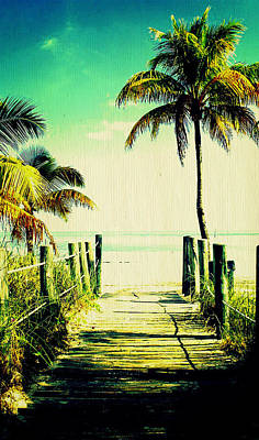 Photograph - Key West Palms by Laurie Perry