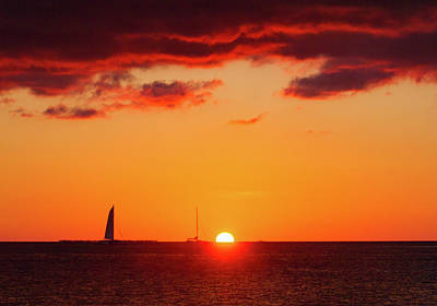 Photograph - Key West Red Cloud Sunset by Bob Slitzan