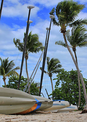 Photograph - Key West - Sailboats On Beach by Ron Grafe