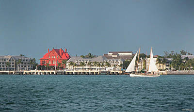 Key West Shoreline Art Print by Frank Mari
