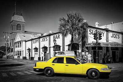 Florida House Photograph - Key West Sloppy Joe's Bar And Taxi by Melanie Viola