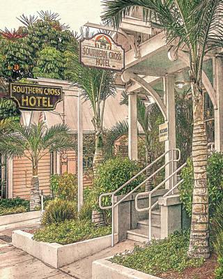 Digital Art - Key West Southern Cross Hotel by Rebecca Korpita