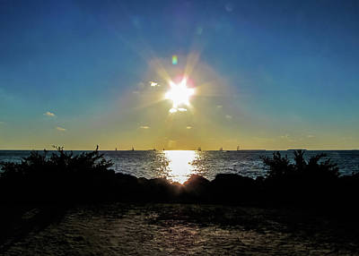 Photograph - Key West Star Sunset by Bob Slitzan