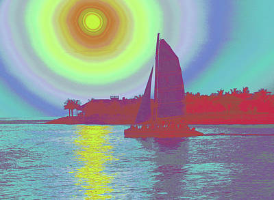 Digital Art - Key West Sun by Steven Sparks