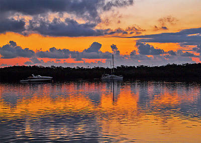 Photograph - Key West Sunrise Greeting Card by Bob Slitzan