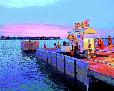 Digital Art - Key West Sunset And Conch Fritters by Rebecca Korpita