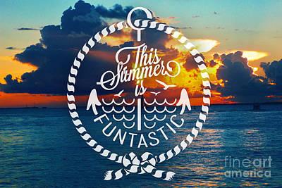 Beach Landscape Mixed Media - Key West Sunset by Chris Andruskiewicz