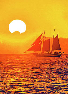Photograph - Key West Sunset Cruise by Dennis Cox Photo Explorer