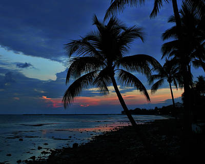 Photograph - Key West Sunset No 1 by Ron Grafe