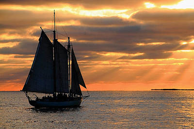 Photograph - Key West Sunset Sail 6 by Bob Slitzan