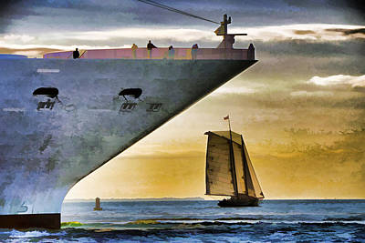 Key West Sunset Sail Art Print by Dennis Cox WorldViews