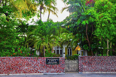 Key West - The Ernest Hemmingway House Art Print by Bill Cannon