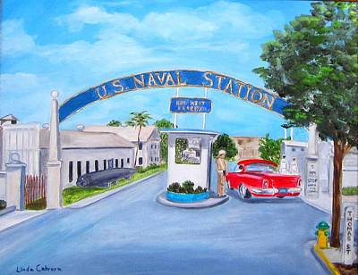 Painting - Key West U.s. Naval Station by Linda Cabrera