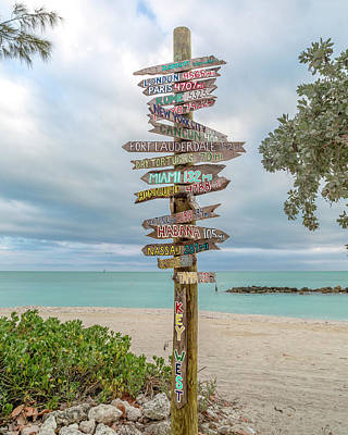 Beach Royalty-Free and Rights-Managed Images - Key West Where Do We Go From Here by Betsy Knapp