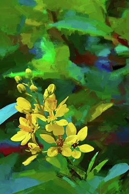 Photograph - Key West Yellow Blooms by Alice Gipson
