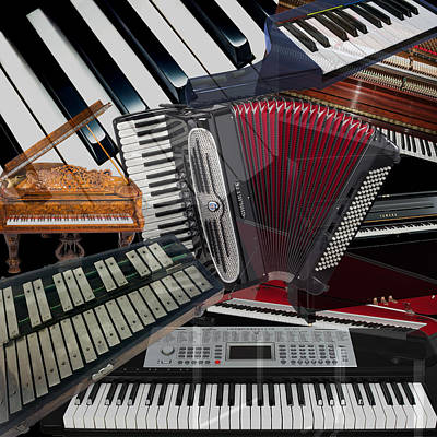 Photograph - Keyboard Instruments by Andrew Fare