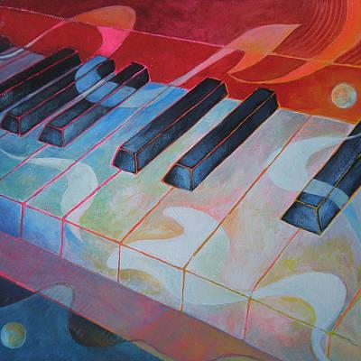 Piano Painting - Keyboard Rhythms by Susanne Clark