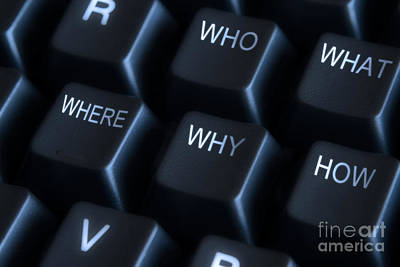 Keyboard With Question Labels Art Print by Blink Images