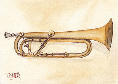 Keyed Trumpet Art Print by Ken Powers