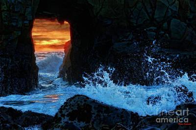 Photograph -  Keyhole Arch At Pfeiffer Beach by Blake Richards