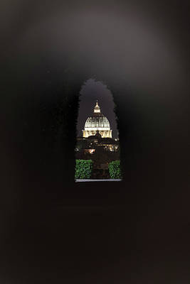 Photograph - Keyhole In Rome At Night  by John McGraw