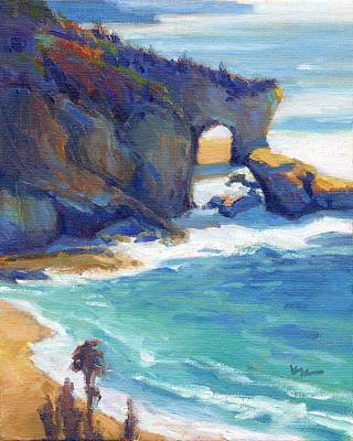 Painting - Keyhole Rock 2 / Laguna Beach by Konnie Kim