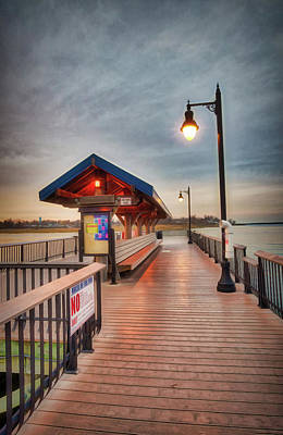 Photograph - Keyport Pier At Sunset by Gary Slawsky