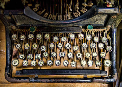 Antique Typewriter Photograph - Keys by Heather Applegate