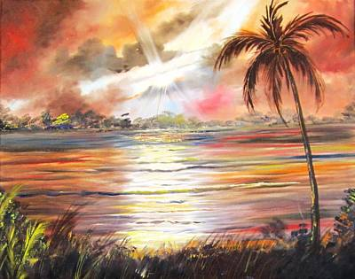 Painting - Keys Sunrise, Sunset by Linda Cabrera