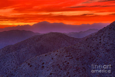 Photograph - Keys View Sunset by Adam Jewell