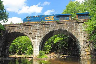 Photograph - Keystone Arches Double Arch Railroad Bridge by John Burk