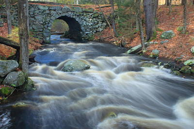 Photograph - Keystone Bridge Quabbin Reservoir High Water by John Burk