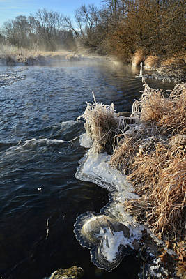 Photograph - Keystone Landing On Frozen Morning In Glacial Park by Ray Mathis