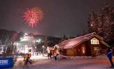 Colorful Photograph - Keystone Resort Fireworks by Michael J Bauer