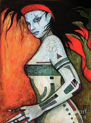 Voodoo Painting - Keziah by Dori Hartley