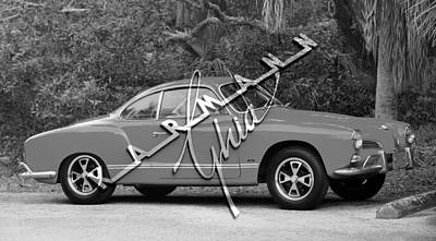 Photograph - Karmann Gia With Name Plate by David Lee Thompson