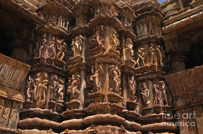 Painting - Khajuraho Temples 3 by Anil Sharma