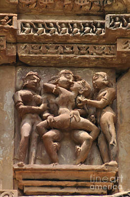 Painting - Khajuraho Temples 5 by Anil Sharma