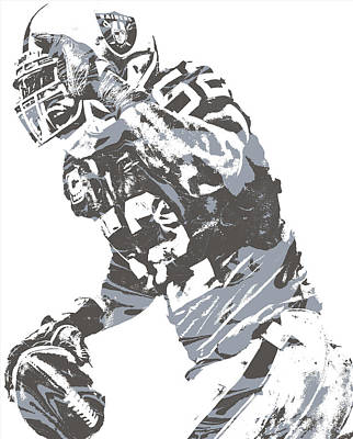 Mixed Media - Khalil Mack Oakland Raiders Pixel Art 21 by Joe Hamilton