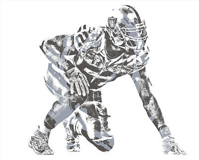 Mixed Media - Khalil Mack Oakland Raiders Pixel Art 23 by Joe Hamilton