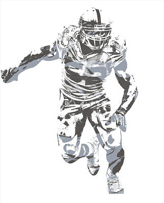 Mixed Media - Khalil Mack Oakland Raiders Pixel Art 24 by Joe Hamilton