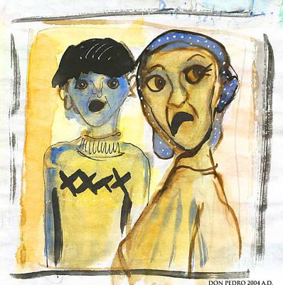 Khalim And His Mother Art Print
