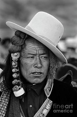 Photograph - Khampa At The Litang Horse Festival - Kham by Craig Lovell