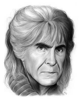 Celebrity Drawing - Khan Noonien Singh by Greg Joens