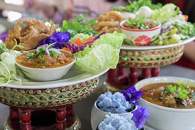 Khantoke Dinners Have Long Been A Popular Tourist Attraction In  Art Print by Anek Suwannaphoom