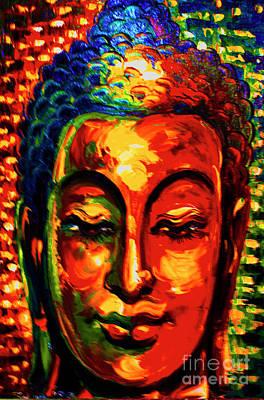 Cambodian Painting - Khmer Bhudda by Jeffery Waz