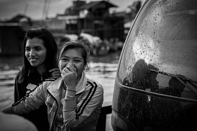 Photograph - Khmer Laughter by Alex Leonard