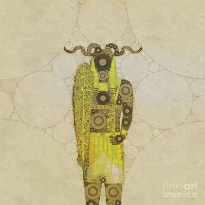Thoth Digital Art - Khnum, Ancient God Of Egypt, Pop Art By Mb by Mary Bassett