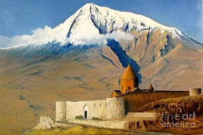 Painting - Khor Virap by Boris Garibyan