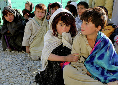 Afghanistan Painting - Khost Children by MotionAge Designs